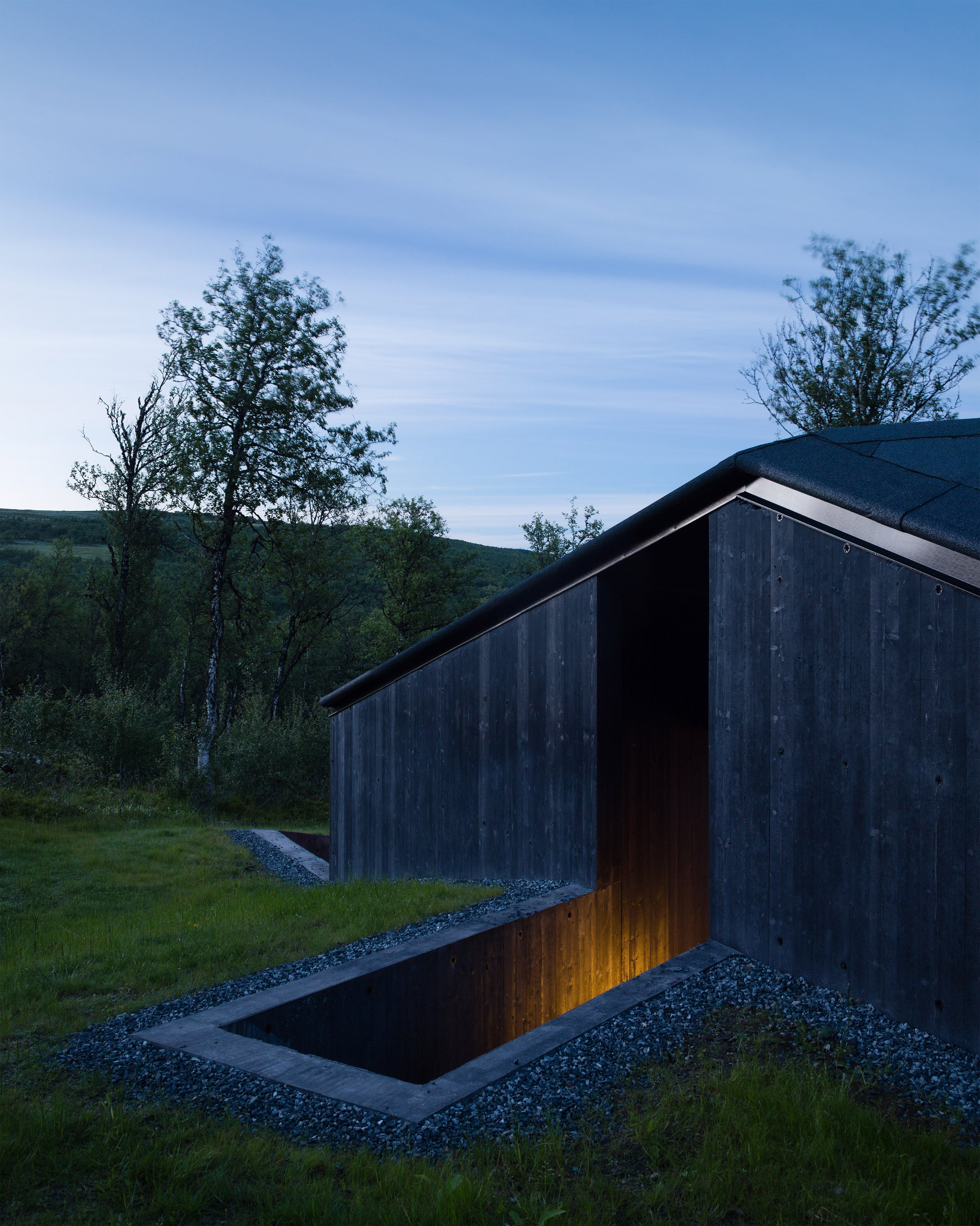 Lund Hagem's blackened timber cabin designed to withstand Norway's harsh winters
