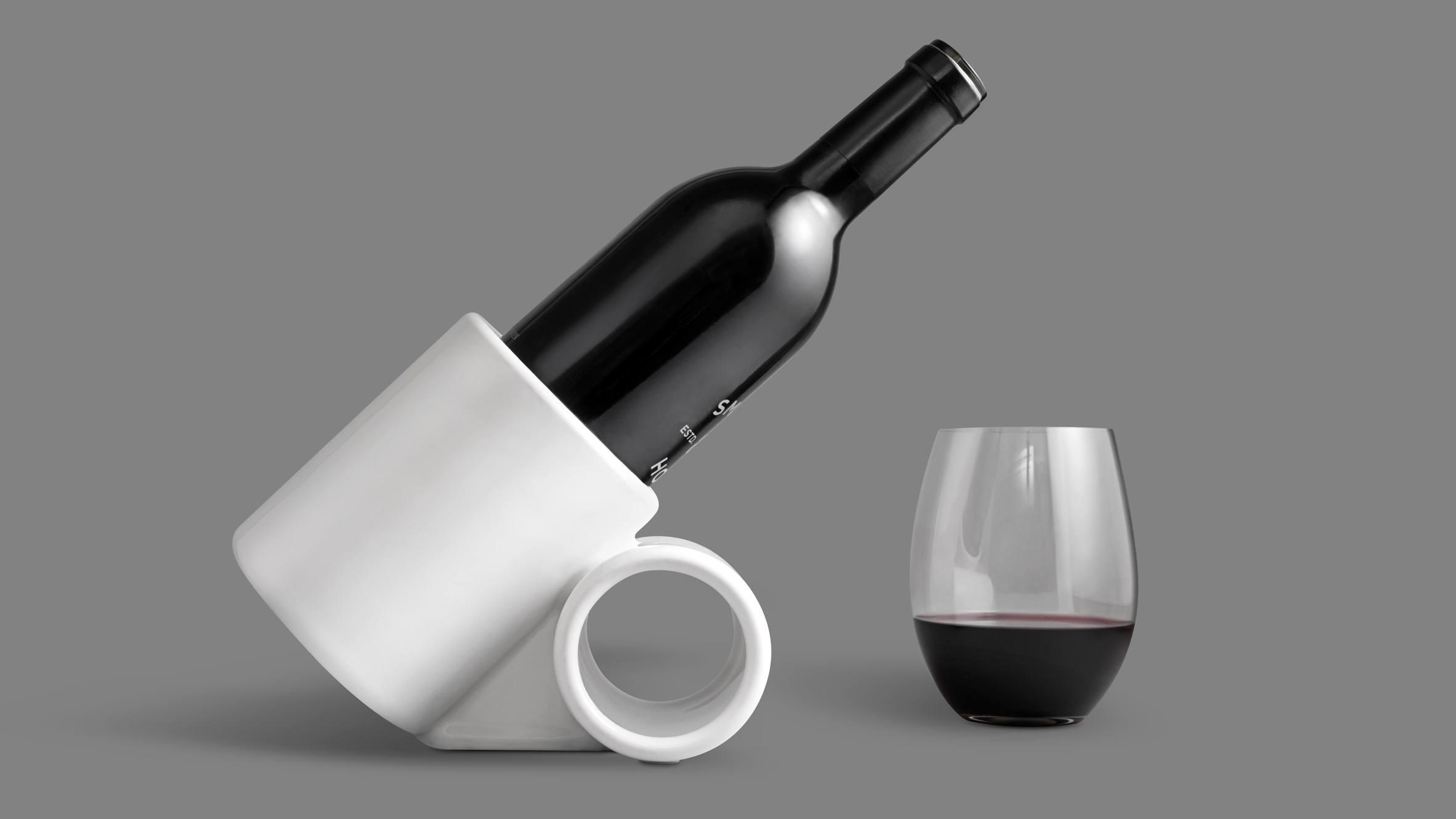 Wine Bottle Storage Angle 3d Printed Wine Tilt Keeps Bottle At Optimum Angle For Aeration