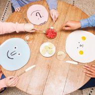 Jean Jullien turns faces into plates for Case Studyo