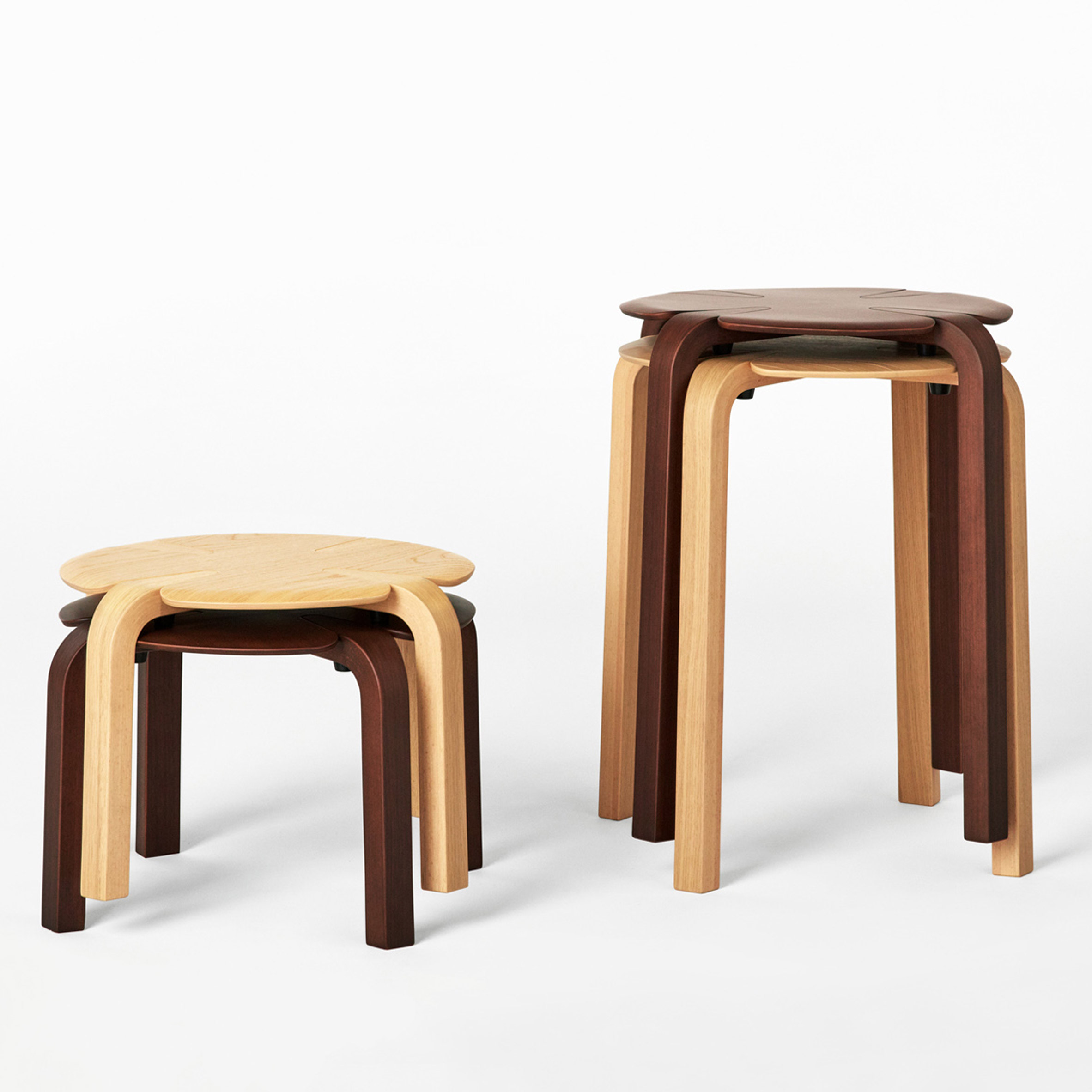Richard Hutten designs stackable clover-shaped stools