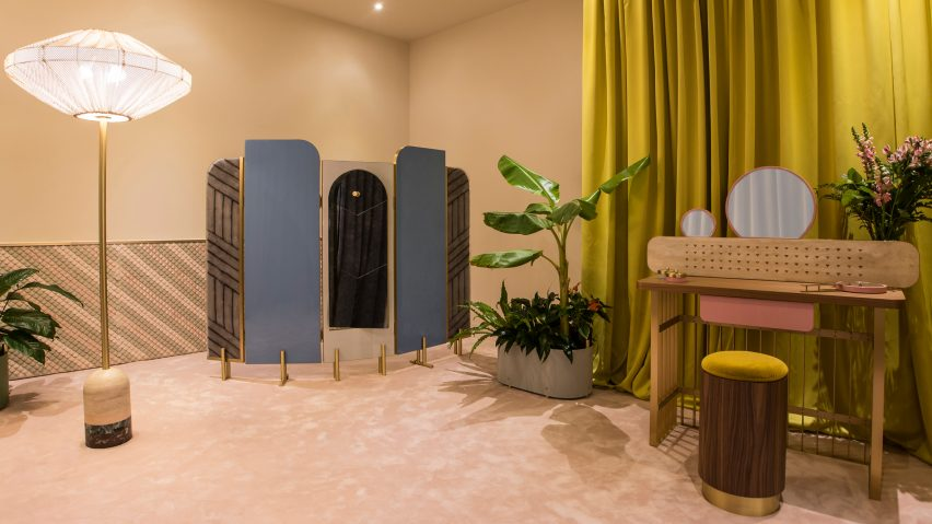 Cristina Celestino designs travelling 50s-style dressing room for Fendi