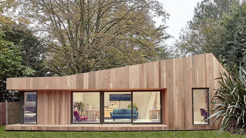 Prefabricated Garden Studio In South London Is Clad In Cedar And Lined In  Birch