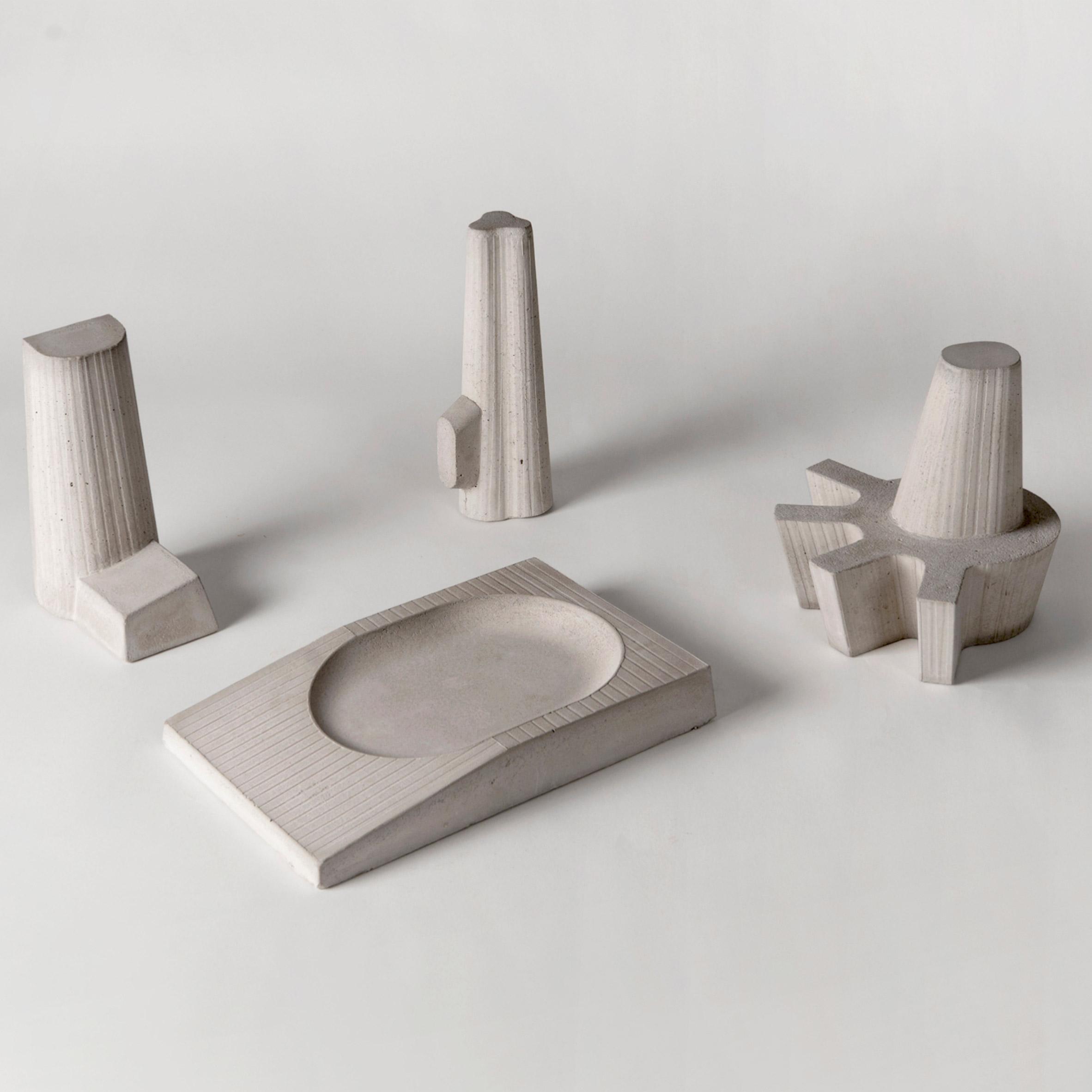 Liliana Ovalle creates mini concrete sculptures based on brutalist buildings