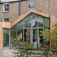 Scenario Architecture covers London house extension in larch and sedum