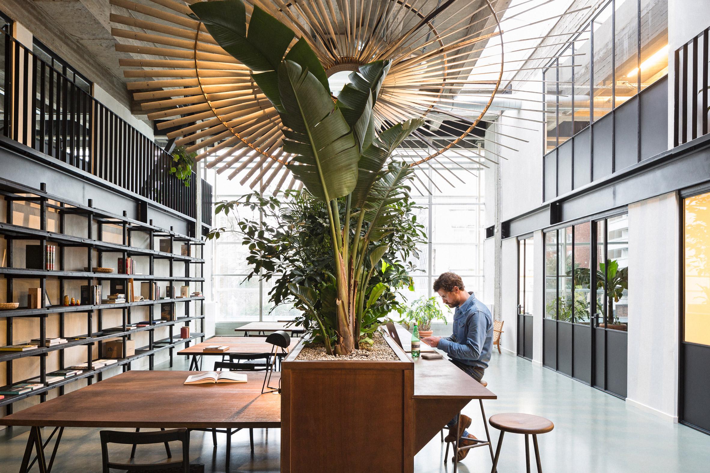 Fosbury & Son co-working space in the WATT-tower, Antwerp
