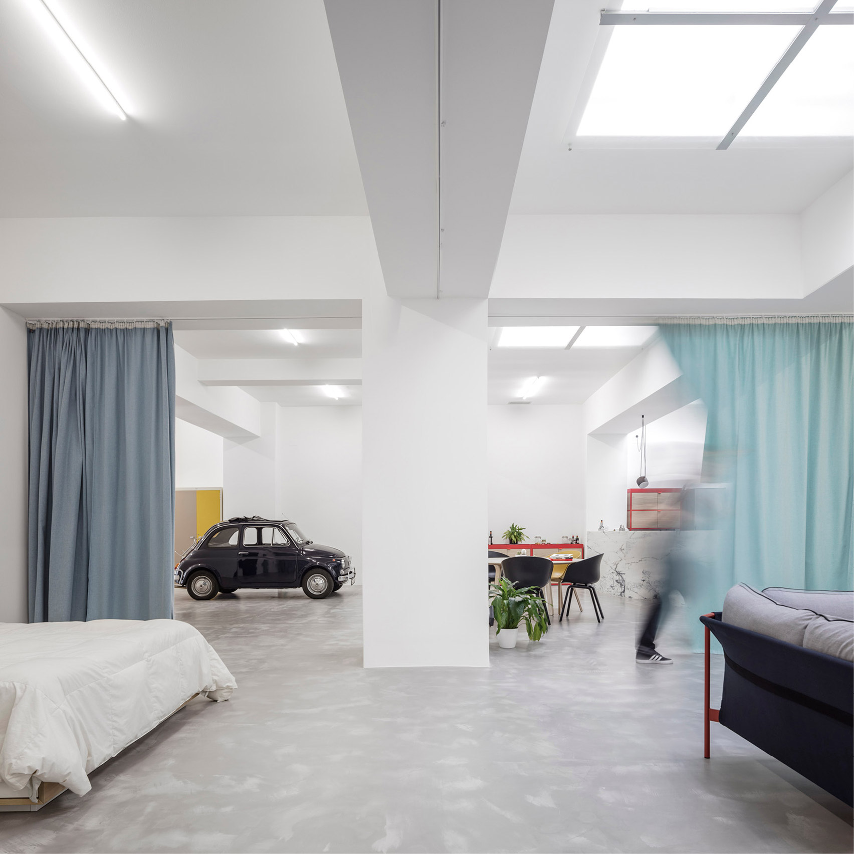 garage design news dezeen fala atelier converts windowless garage into home for young couple