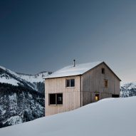 Dezeen's new Pinterest board features wintery landscapes and snow-capped houses
