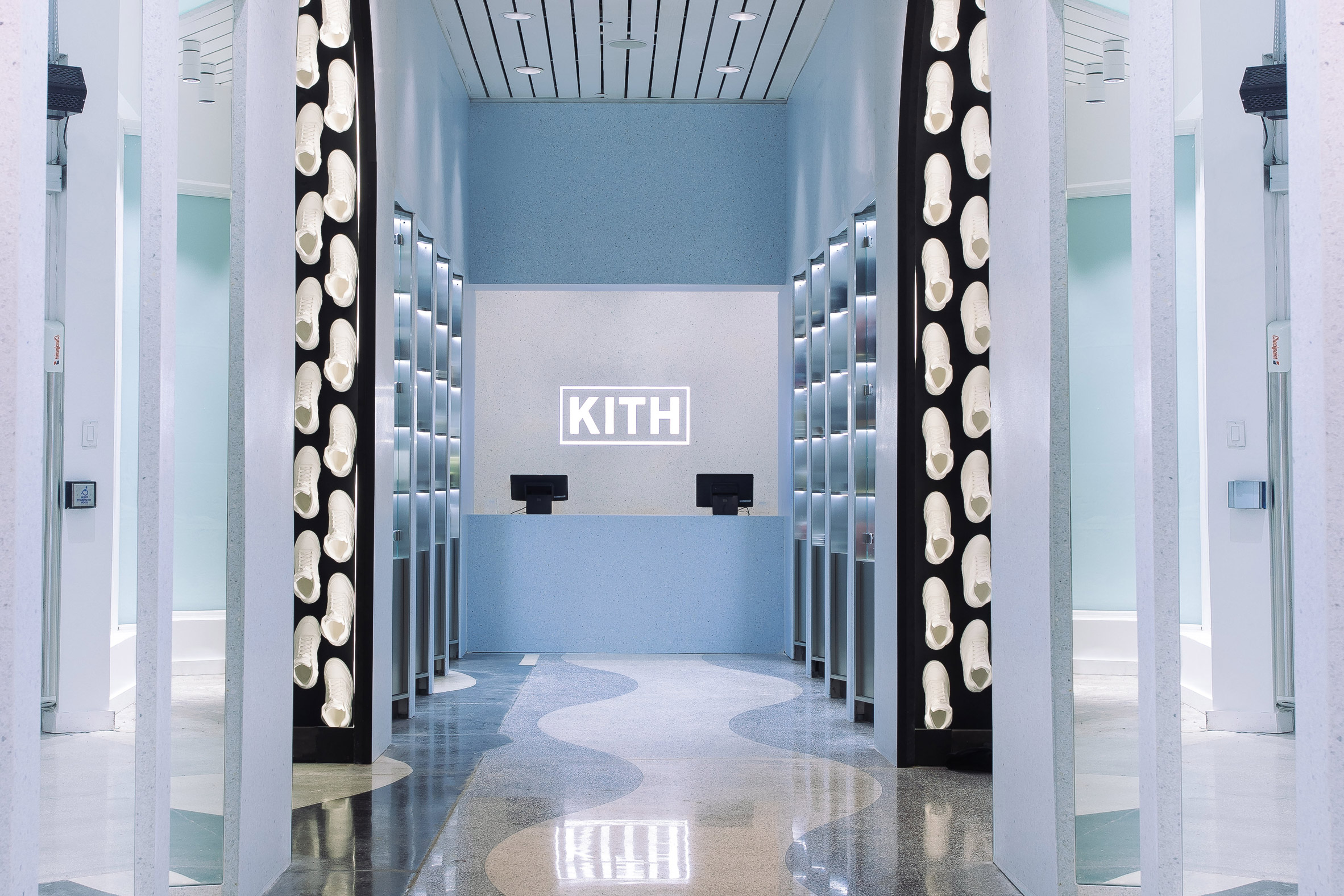 Snarkitecture designs gallery-like interior for Kith's Miami flagship store