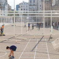 NP2F Architectes squeezes football and tennis courts onto narrow Paris site