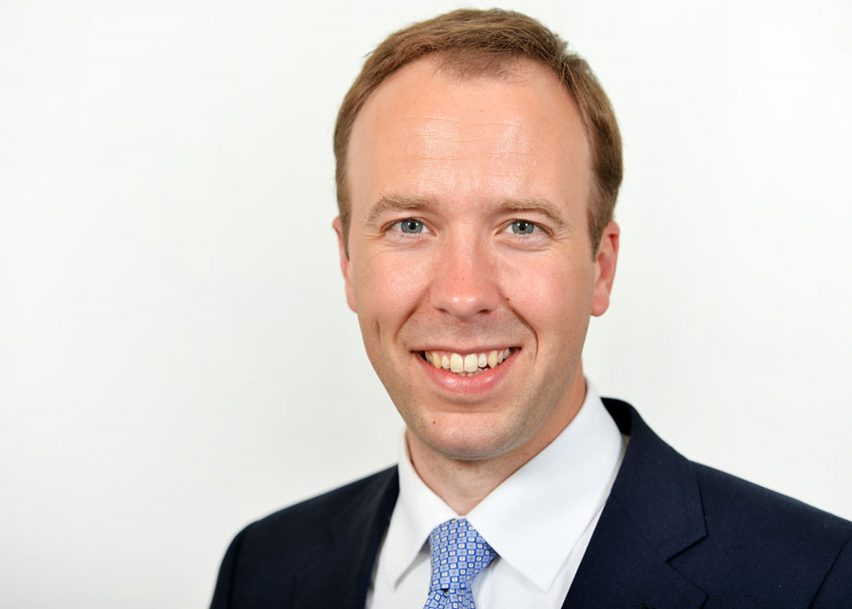 Matt Hancock, minister of state for digital and culture at the DCMS