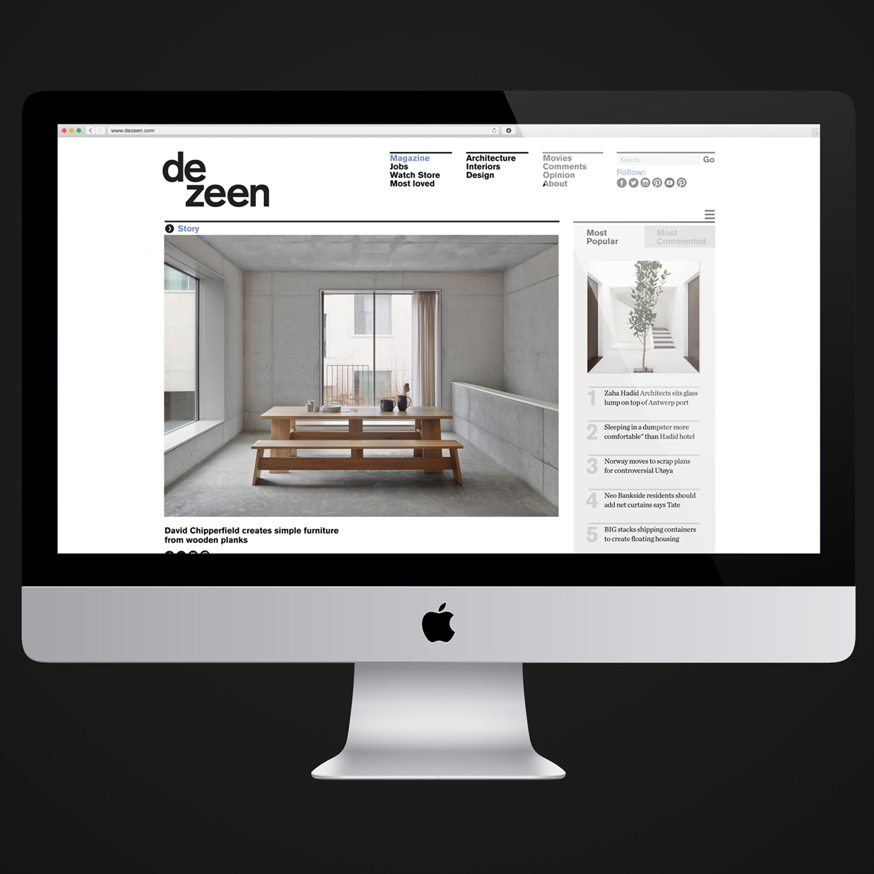 Record traffic to Dezeen in 2016 with almost 50 million visits