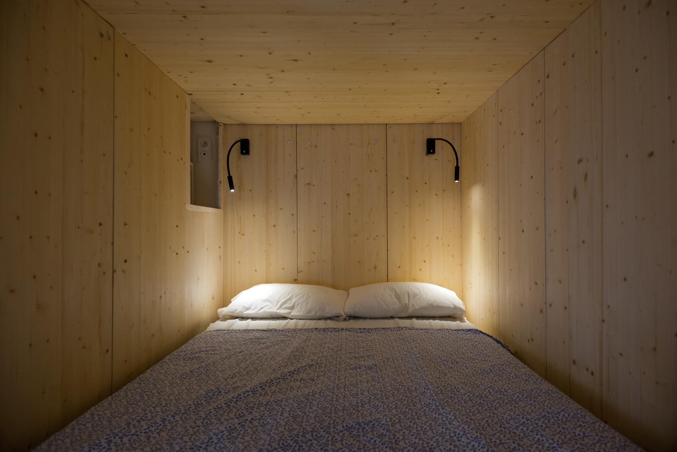 Micro apartment sleeping area