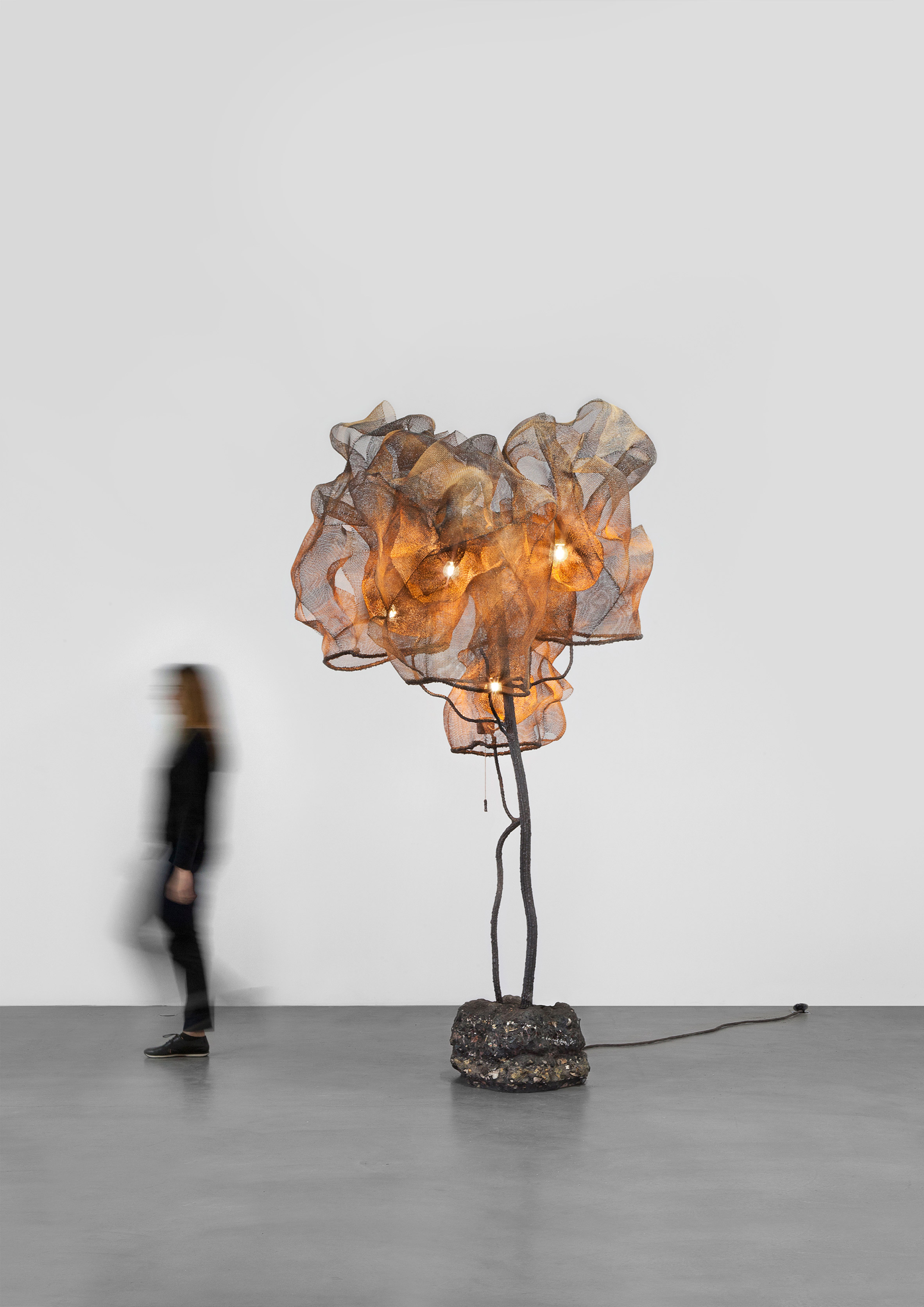 Nacho Carbonell fills Paris gallery with giant cocooned lamps