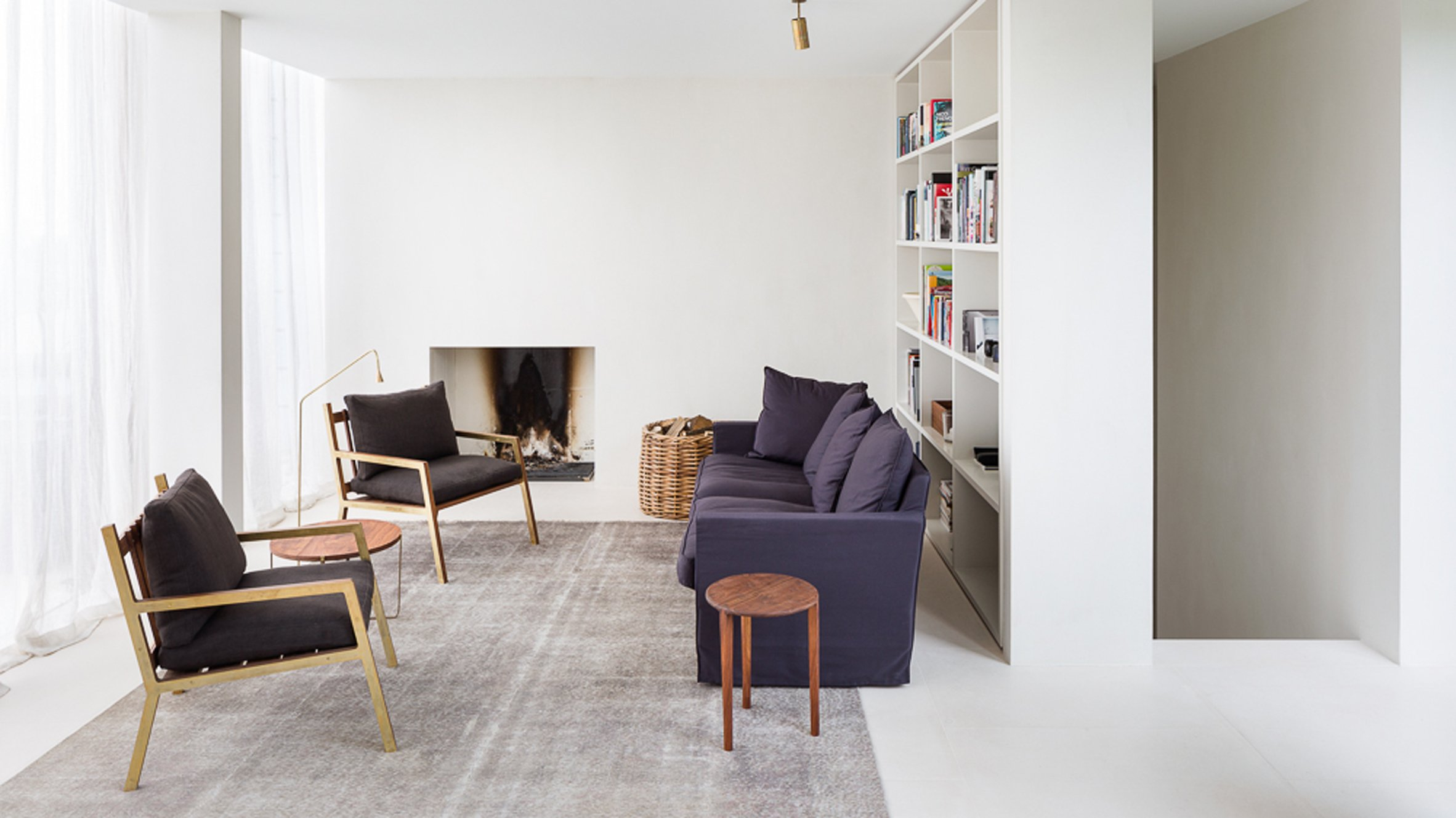 Hans Verstuyft converts 1960s Antwerp office into minimal penthouse