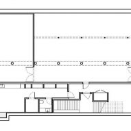 Cellar plan of Peter Freeman Gallery in New York by Toshiko Mori Architect
