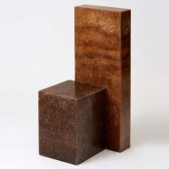 Oh Geon creates sculptural chair from resin and sawdust