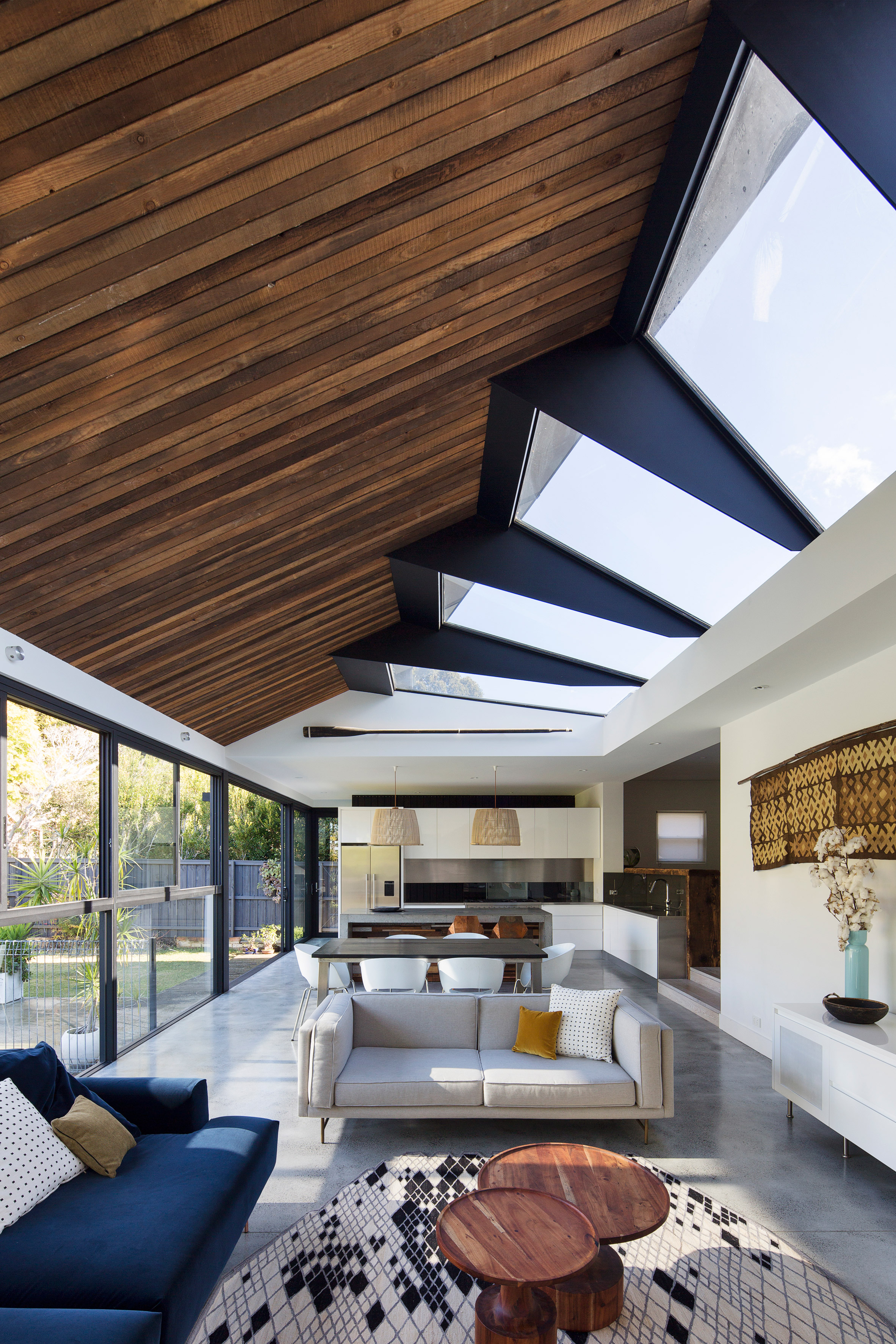 Concertina rooflight illuminates Sydney house extension by Nick Bell Design