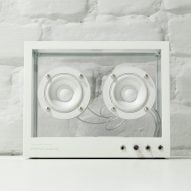 Sustainable see-through speaker by People People alerts user when parts need replacing