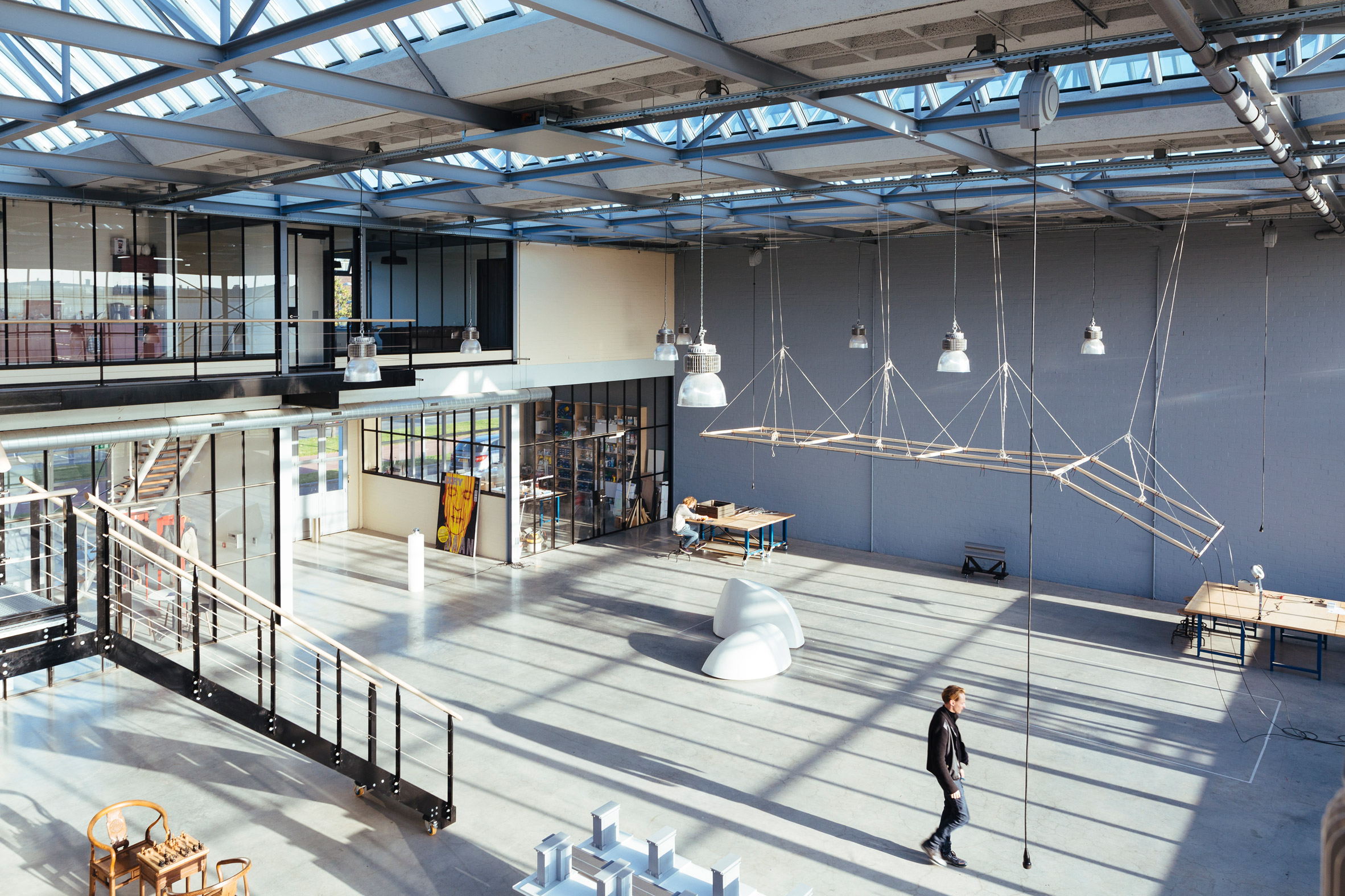 """Studio Roosegaarde converts Rotterdam glass factory into """"dream lab of the 21st century"""""""