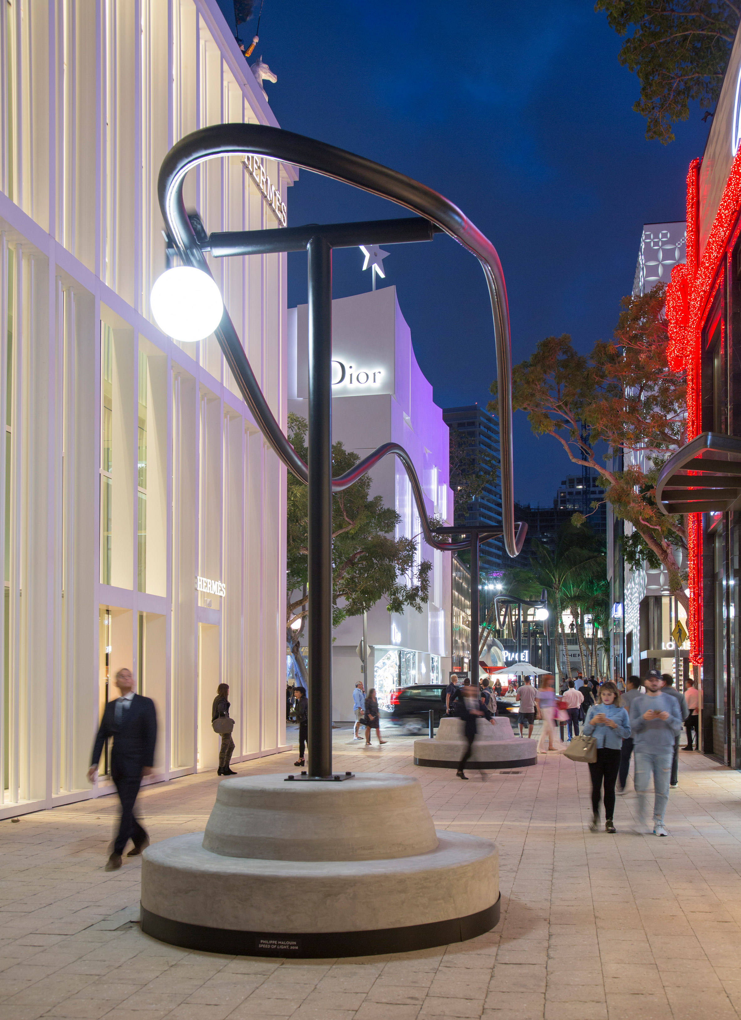 Philippe Malouin lights up Miami Design District with orbiting installation