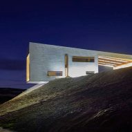 Valdemonjas Winery by Agag+Paredes projects from a hillside in Spain