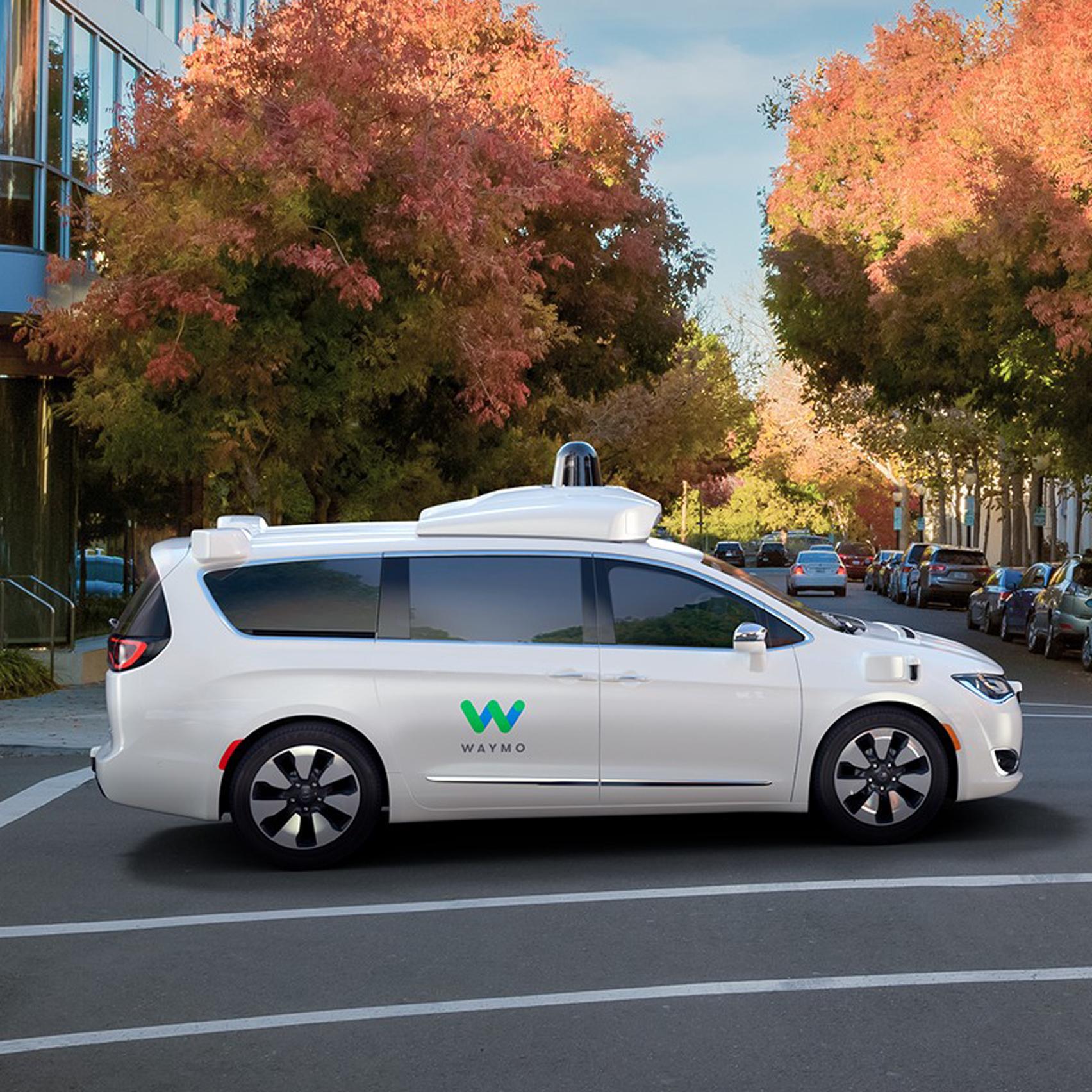 Waymo Chrysler self-driving car