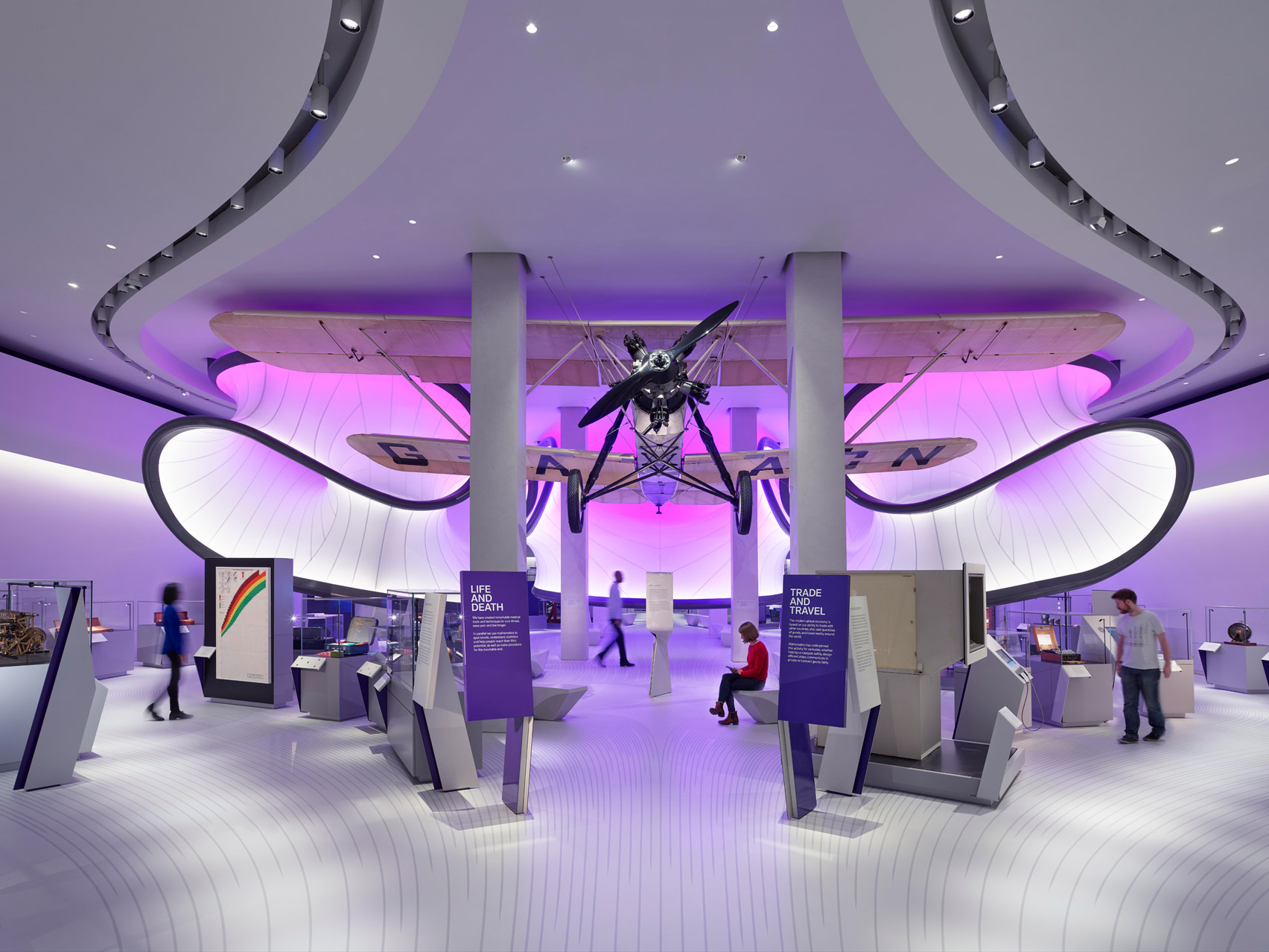 Zaha Hadid Architects' mathematics gallery opens at London Science Museum