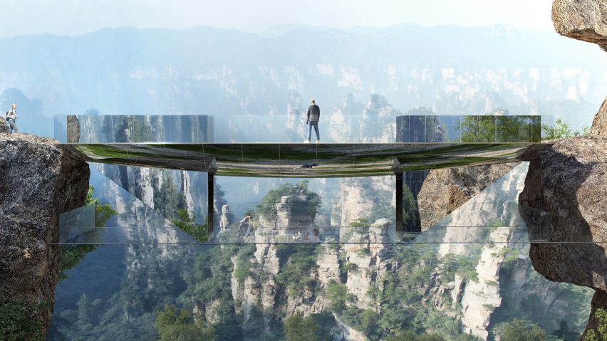 Zhangjiajie bridges by Martin Duplantier Architectes