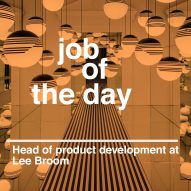 Job of the day: head of product development for Lee Broom