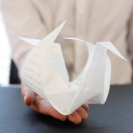 Aeromorph inflatables fold themselves from flat sheets into complex origami