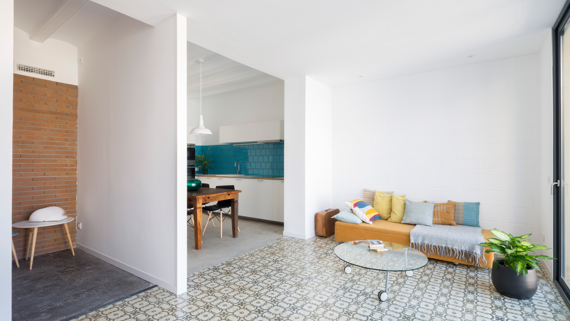 Patterned Tiles Define Rooms In Barcelona Bed And Breakfast By Nook Architects