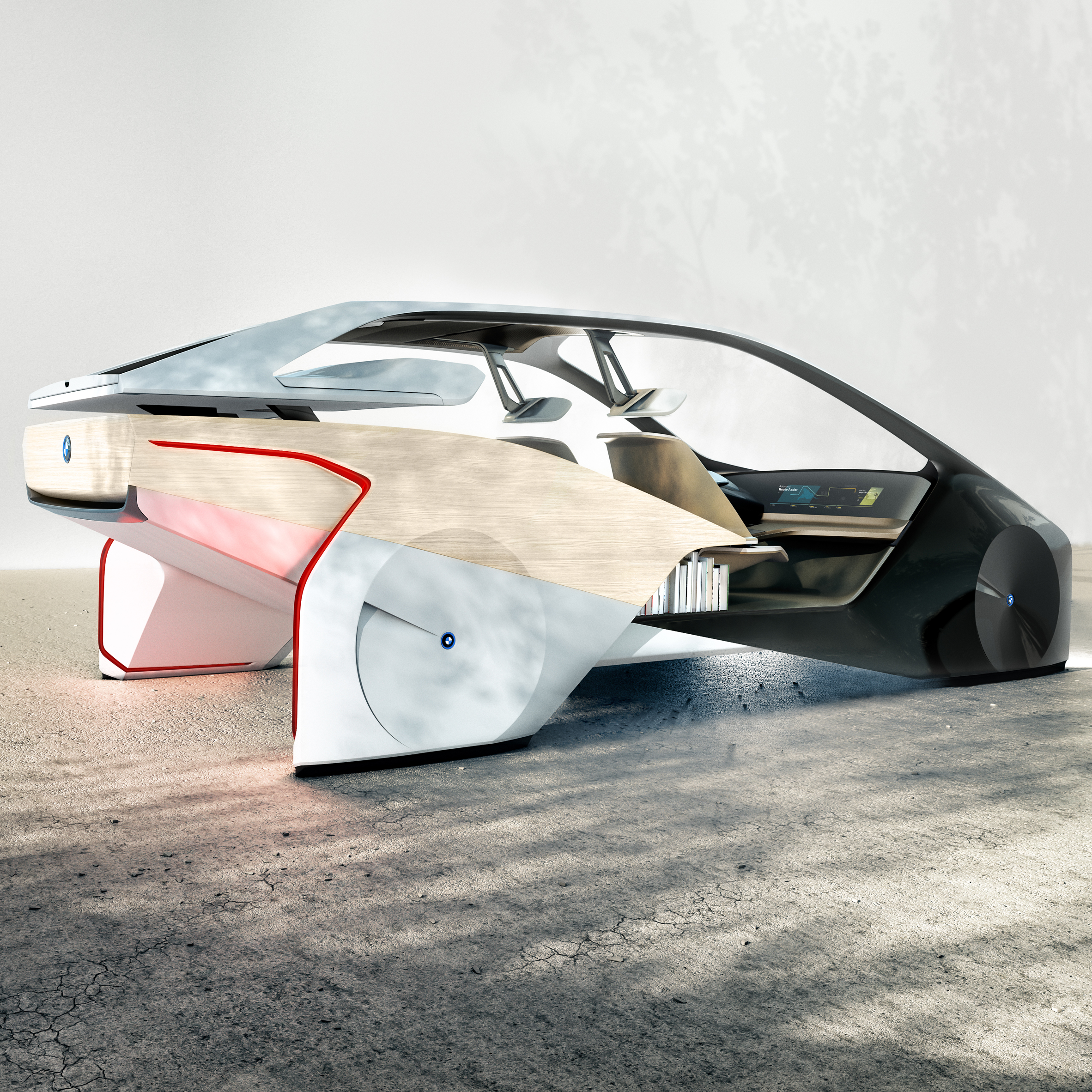 Bmw Concept Car Could Receive Drone Deliveries On The Move