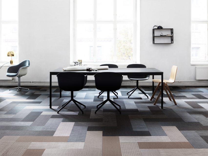 Silence range of woven vinyl flooring by Bolon