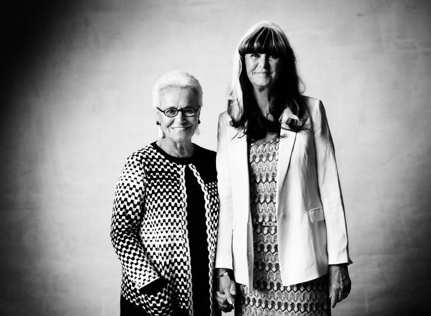 Rosita Missoni with Monica Eklund