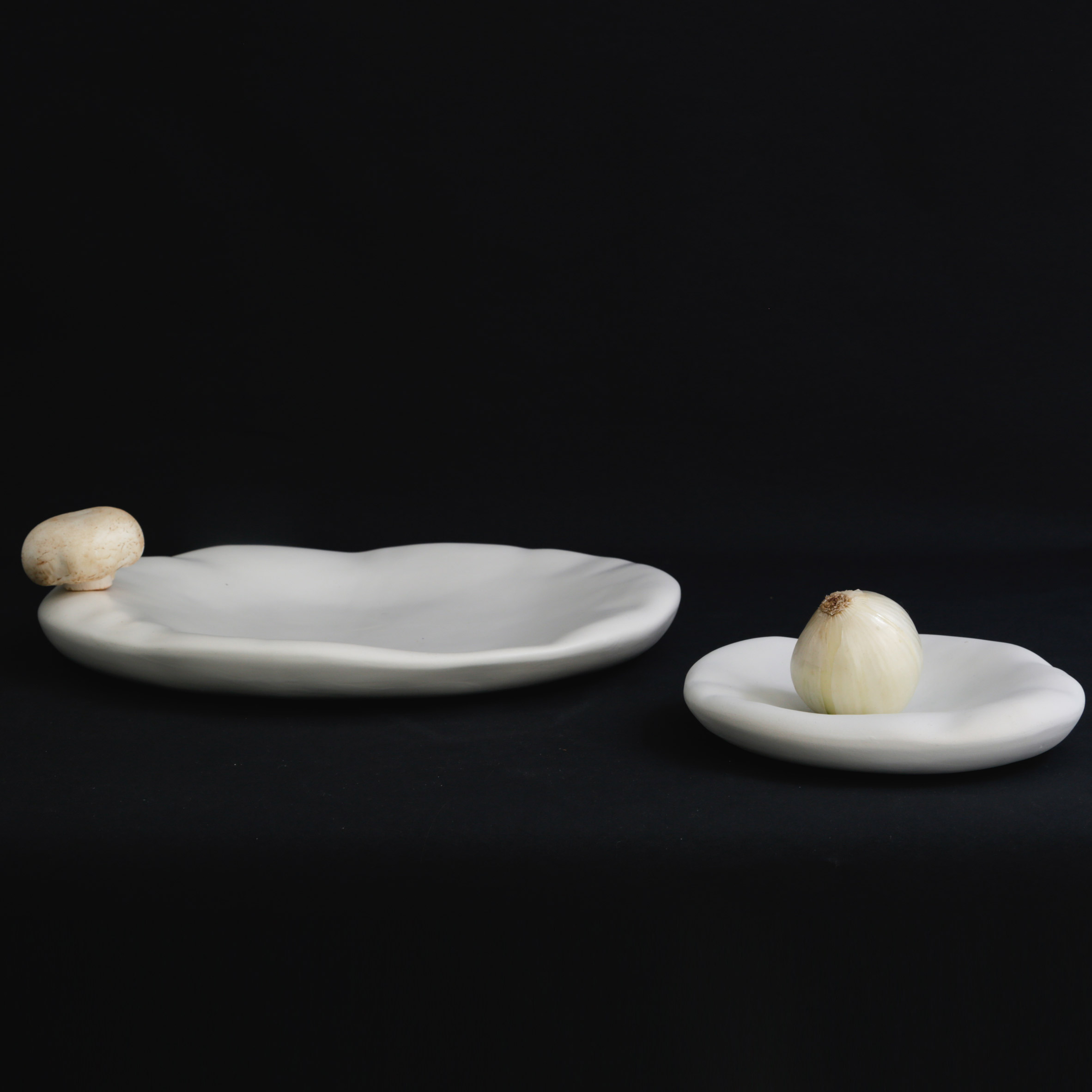Constance Guisset designs puffed-up plates for Moustache