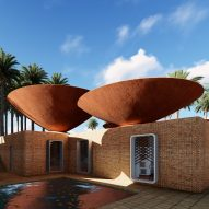 Concave roofs collect rainwater for arid areas in proposal by BMDesign Studios