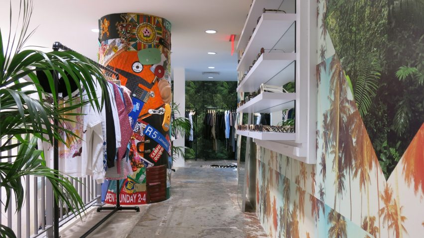 d67093524 Dover Street Market New York refreshes displays using bold prints and raw  materials