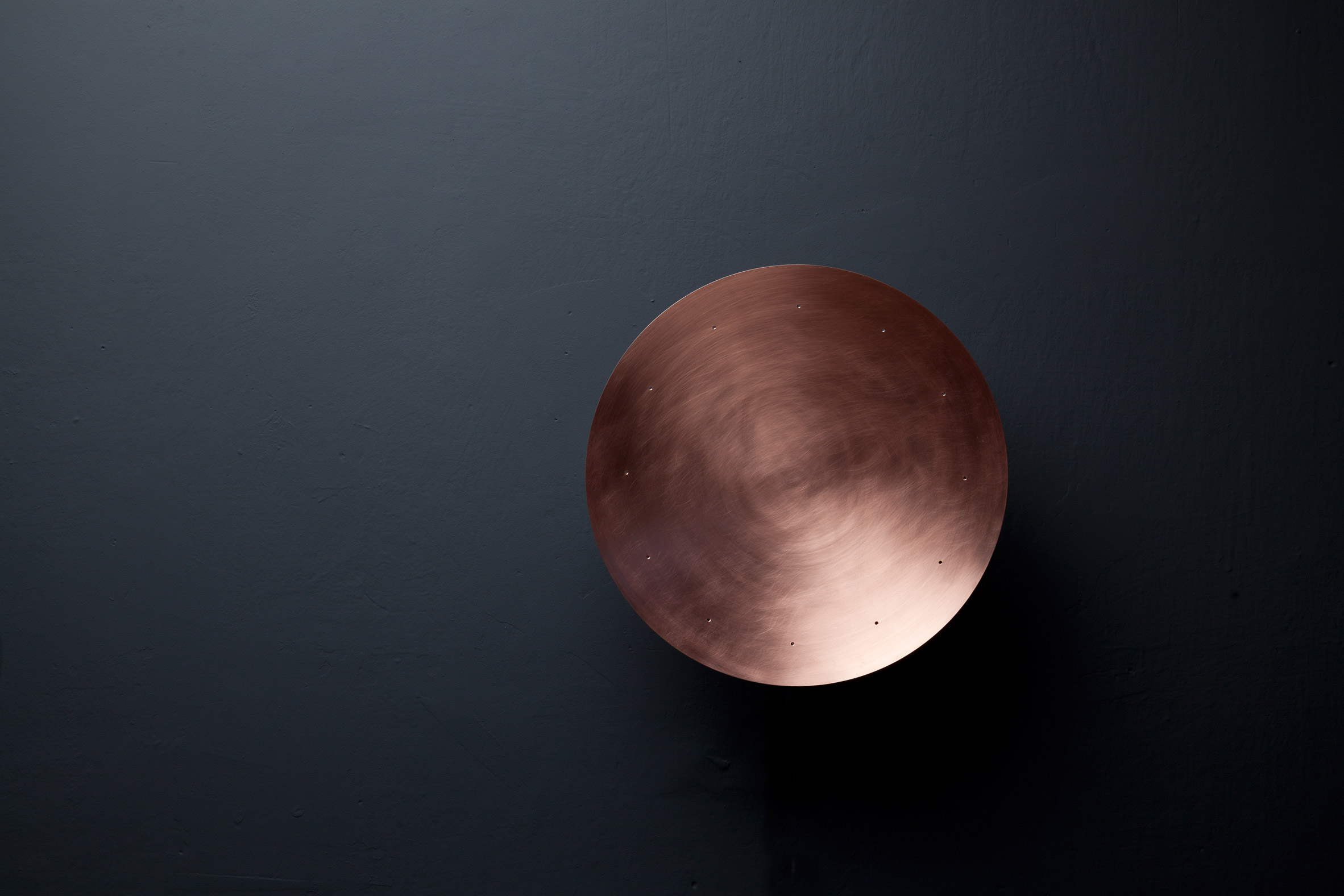 Copper clock by Patrick Palcic uses perfume to tell time