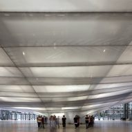 Studio Fuksas suspends cloud-like auditorium inside Rome convention centre