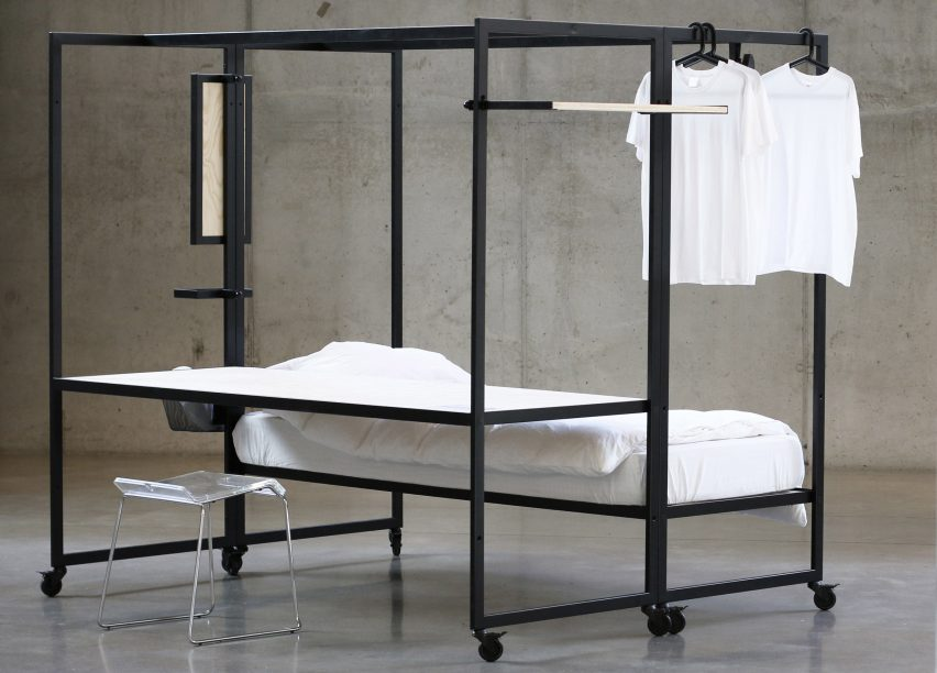 Hybrid Bed Desk Frame By Pieter Peulen Helps Students Make The Most Of Tiny Living  Spaces