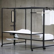 Hybrid bed-desk frame by Pieter Peulen helps students make the most of tiny living spaces