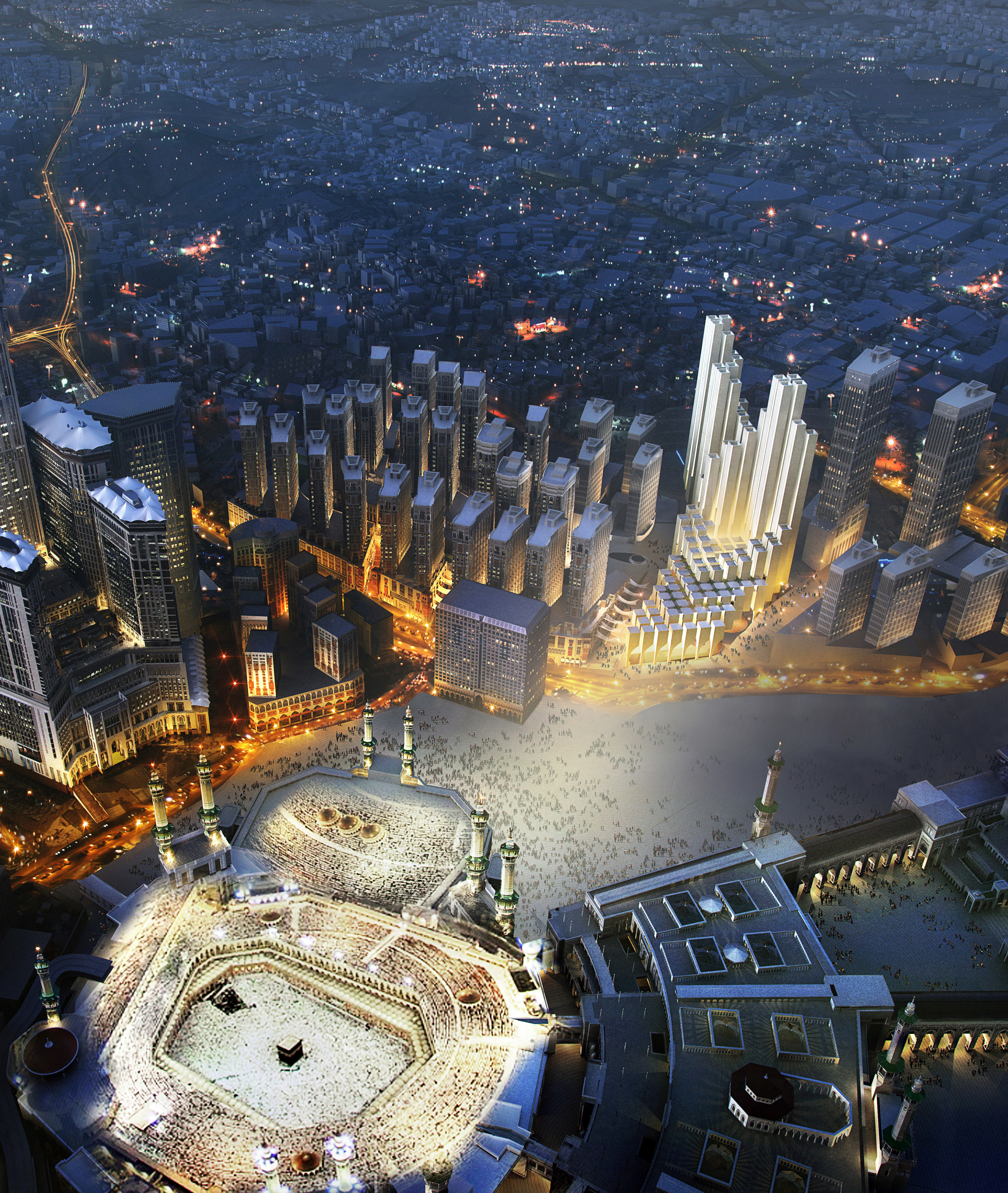 Foster + Partners reveals cascading tower complex for Mecca pilgrims