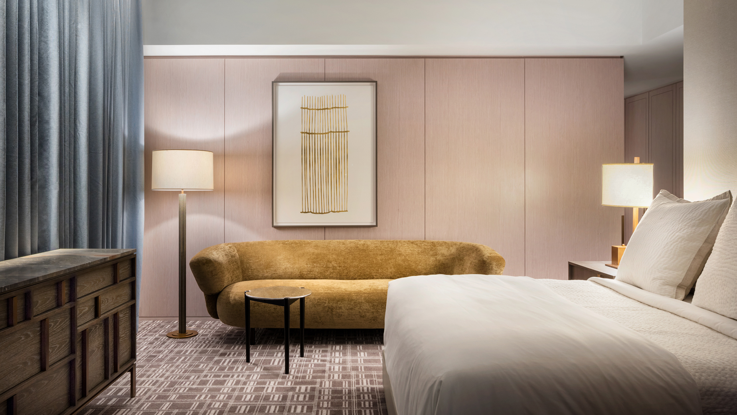 New York Accessories For Bedroom Yabu Pushelberg Uses Muted Hues At Four Seasons Downtown New York