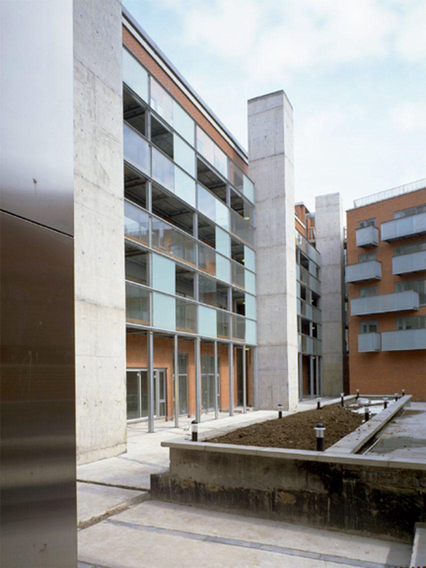 North King Street Housing, Dublin, Ireland, 2000, by Universita Luigi Bocconi School of Economics; Milan, Italy, 2008, by Grafton Architects