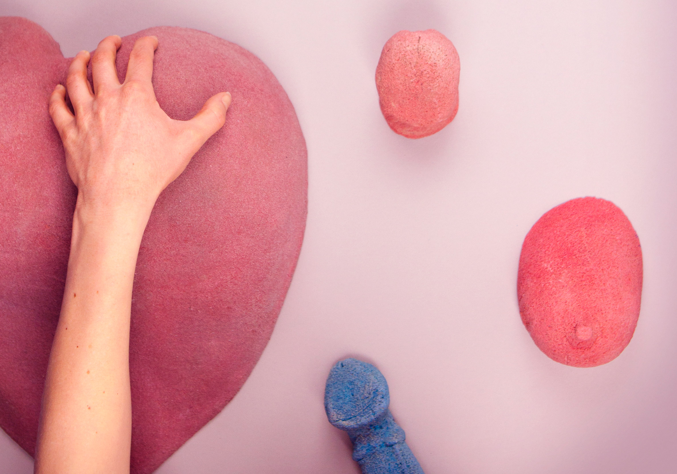 Bompas & Parr's Grope Mountain is an erotic take on the climbing wall