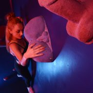 Erotic climbing wall by Bompas & Parr