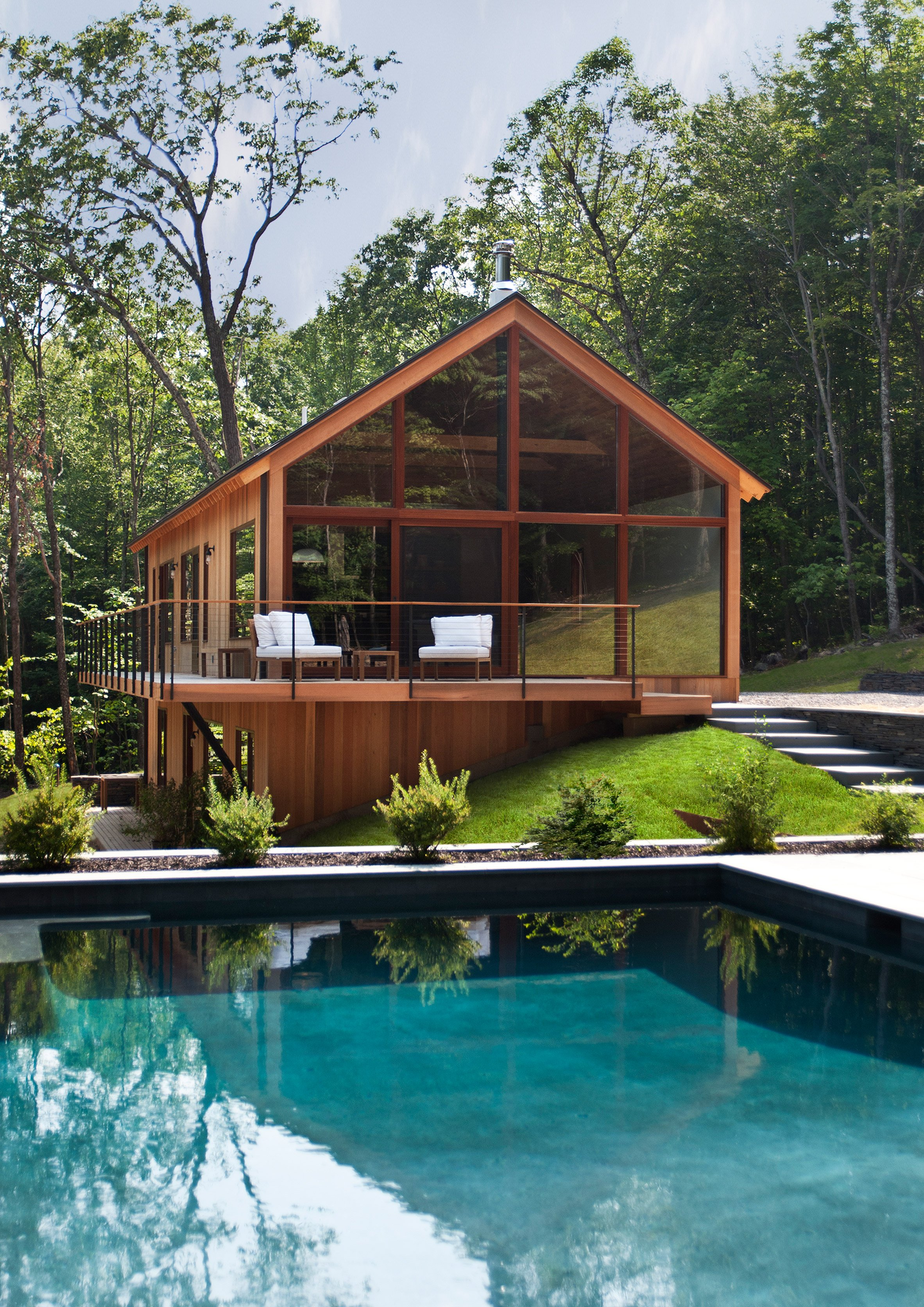 Lang Architecture Builds Modern Holiday Homes In New York Countryside