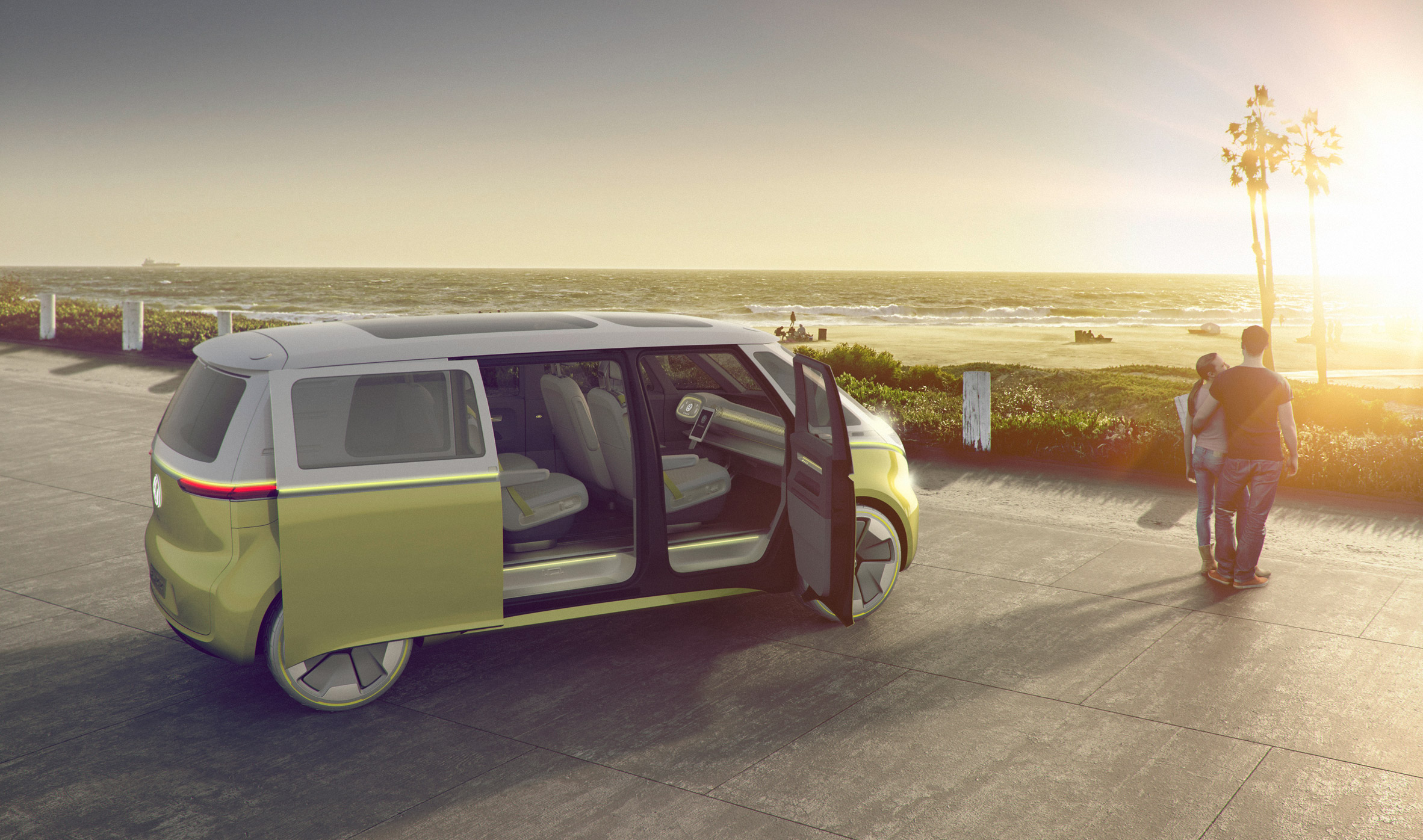 Volkswagen unveils self-driving electric VW Microbus