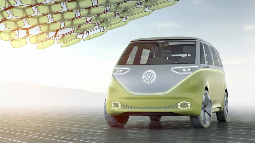 Volkswagen Unveils Self Driving Electric Vw Microbus