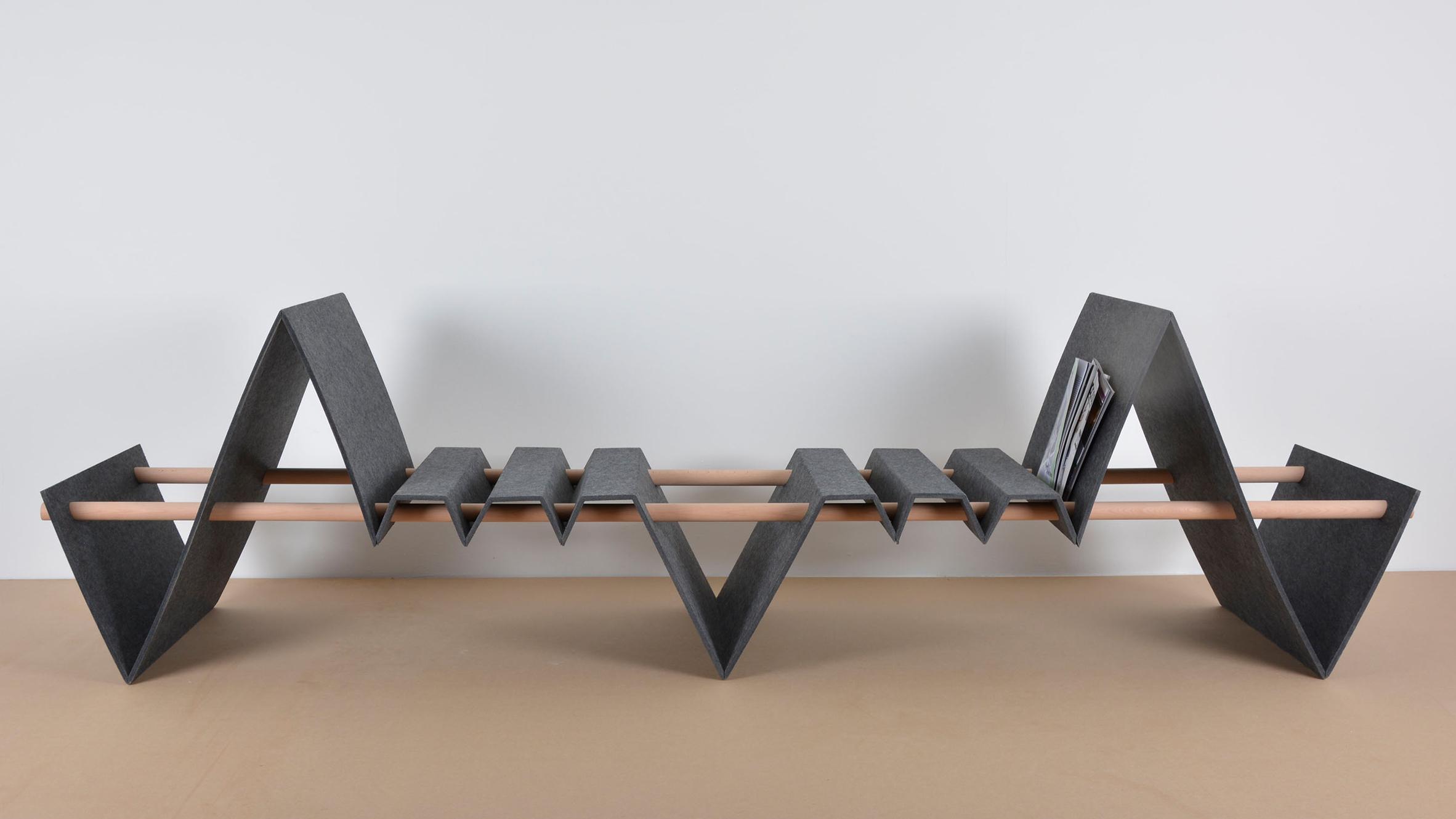 Furniture Design 2017 german students design flexible furniture collection using felt